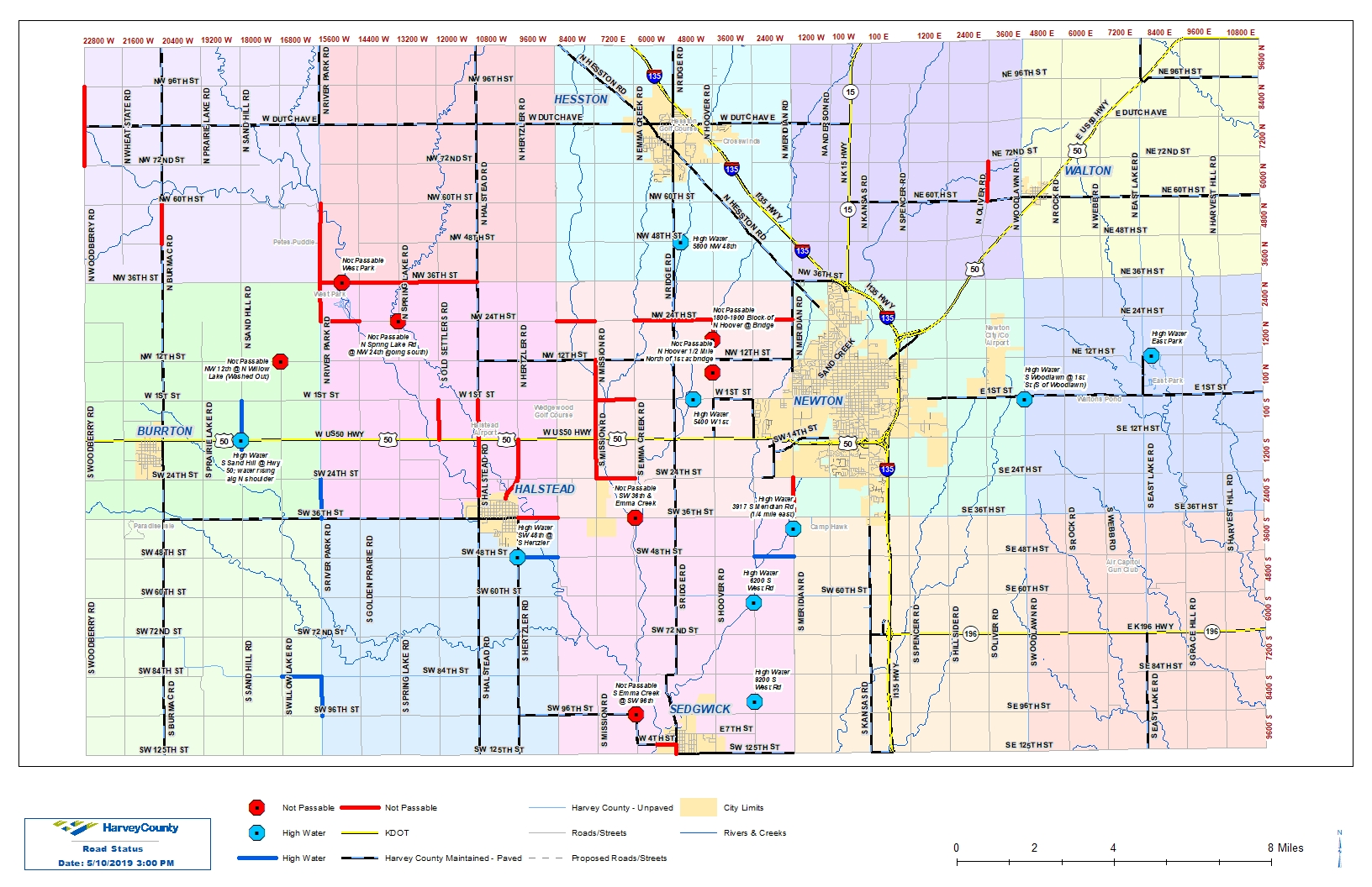 Westfall Signs Disaster Proclamation For May Flooding - Map-of-us-hwy-50